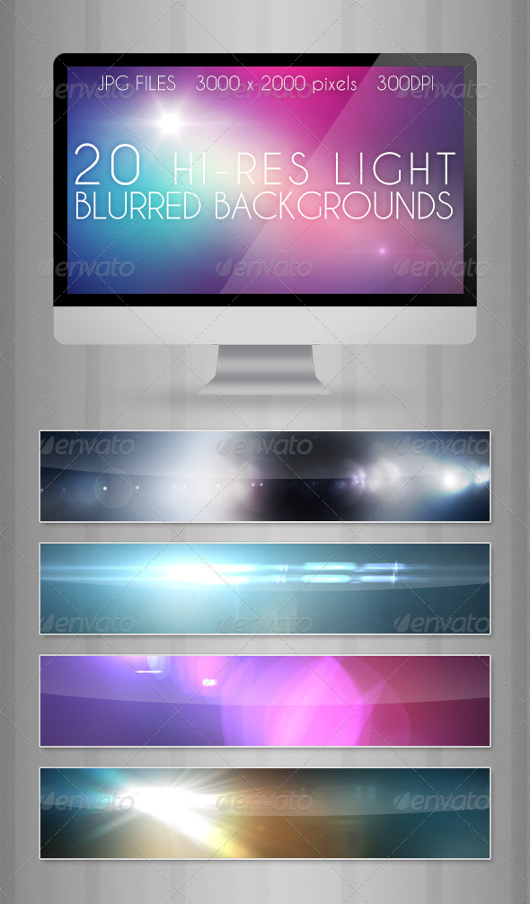 GraphicRiver Light Blurred Backgrounds 3771839