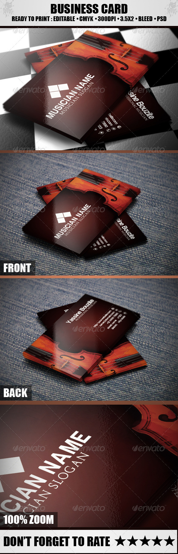 GraphicRiver Musician Business Card 3736090