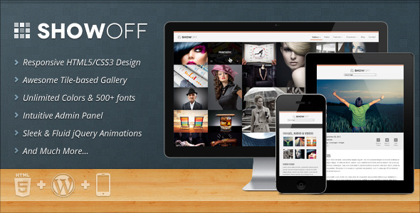 ThemeForest ShowOff Responsive WordPress Portfolio Theme 3812337