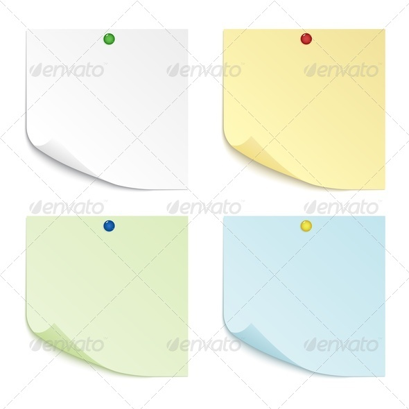 GraphicRiver Colored Sheets of Paper 3841110