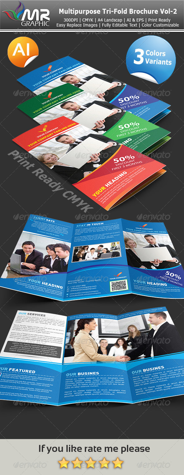 GraphicRiver Multipurpose Tri-Fold Brochure Vol-3 3841163