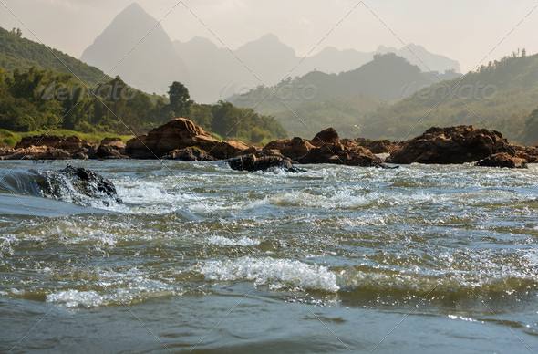 River in Laos - Stock Photo - Images