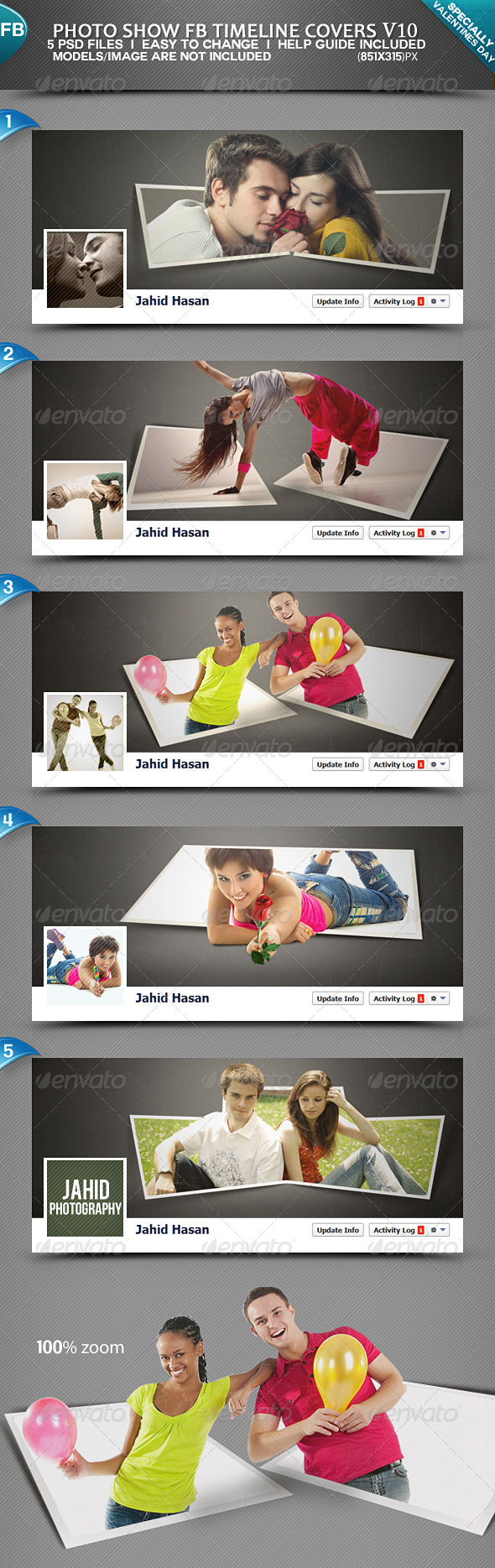 GraphicRiver Photo Display FB Timeline Covers V10 3841264