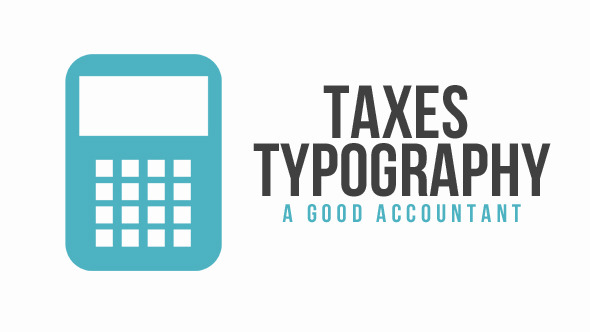 Taxes Typography