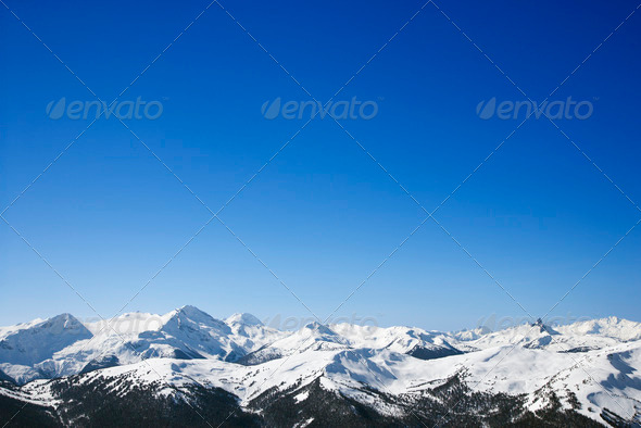 PhotoDune Scenic snow covered mountains 413994