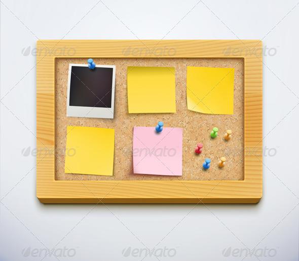 GraphicRiver cork bulletin board 3841727