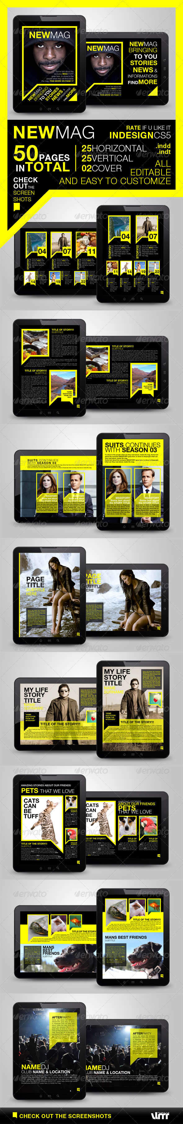 GraphicRiver Newmag Tablet Magazine Template 3841731