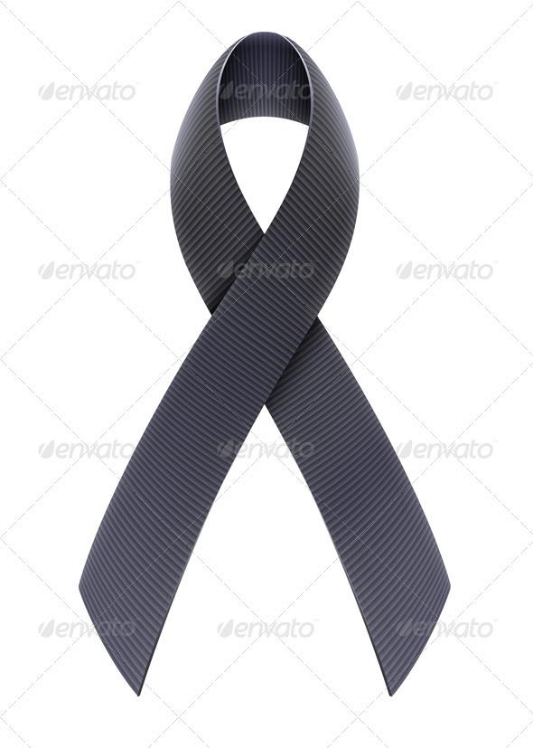 GraphicRiver Black Awareness Ribbon 3841781