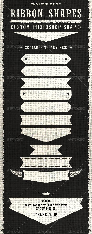GraphicRiver Ribbon Shapes Custom Shapes 3841791