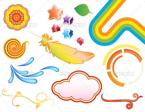 GraphicRiver Summer Design Elements 3841796