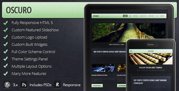 ThemeForest Oscuro Responsive Wordpress Theme 3841840