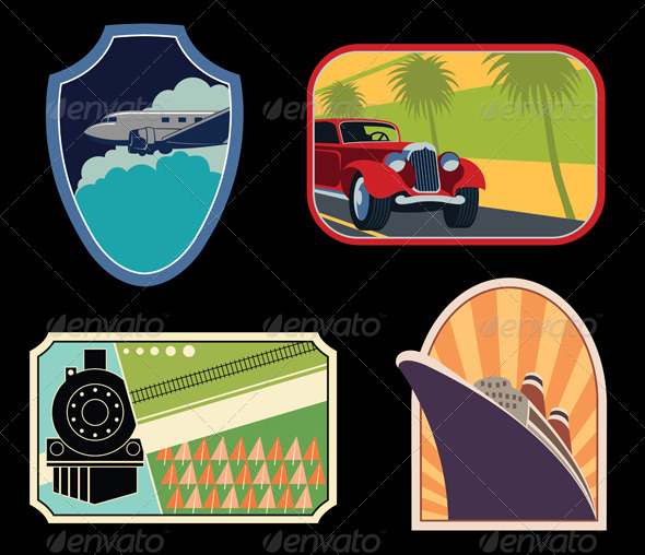 GraphicRiver Luggage Labels 3842199