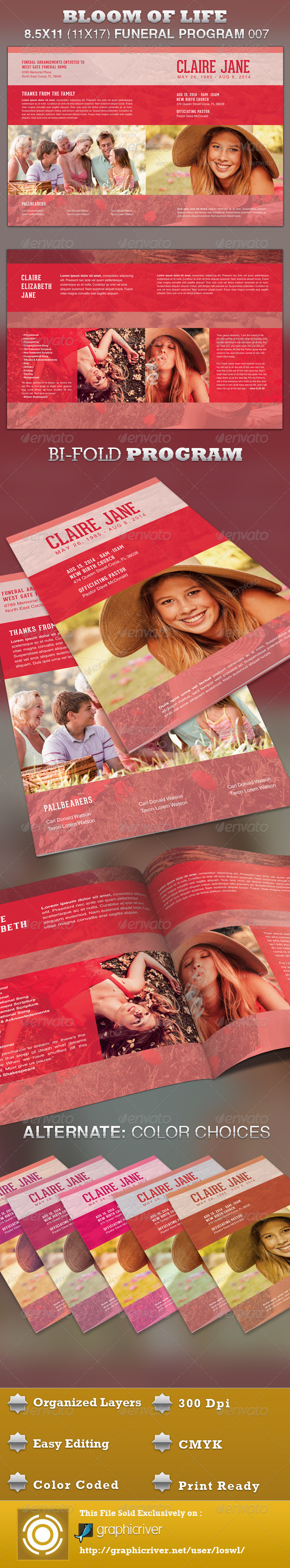 GraphicRiver Bloom of Life Funeral Program Template 007 3842457