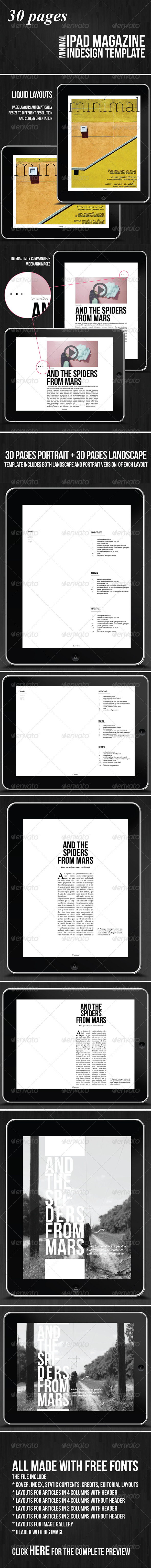 GraphicRiver Minimal Magazine 30 Pages 3842613