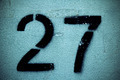 Stancil Number 27 (Twenty Seven) - PhotoDune Item for Sale