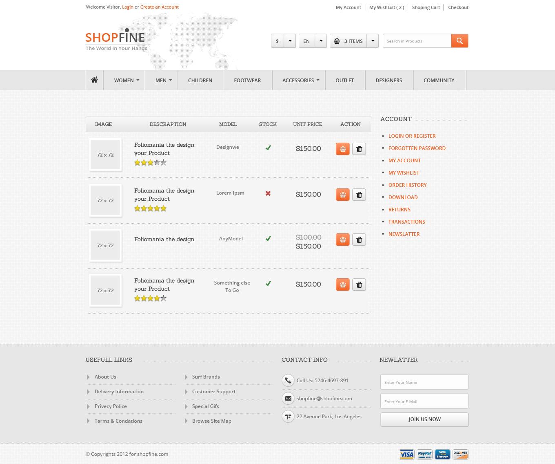 ShopFine : Modern Premium eCommerce PSD