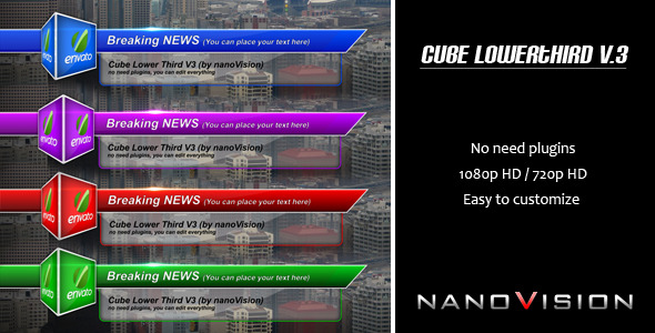 Cube Lower Third V.3