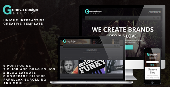 ThemeForest Geneva Unique Interactive Creative Template 3826183