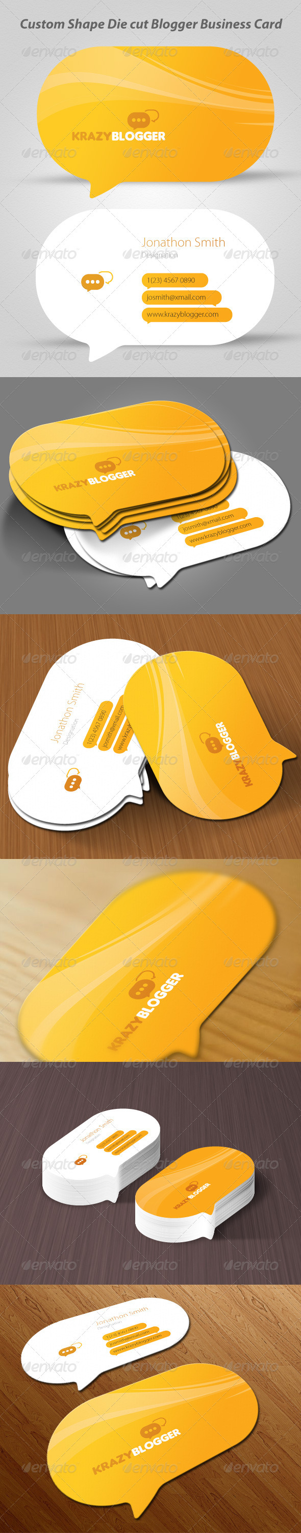 GraphicRiver Blogger Business Card 3843381