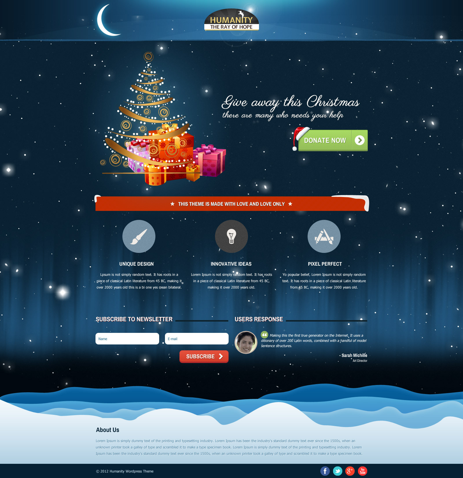 Humanity - Church / Non - Profit PSD Template