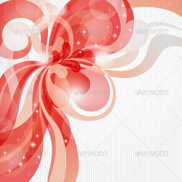 GraphicRiver Abstract love theme background in red tones 3844685