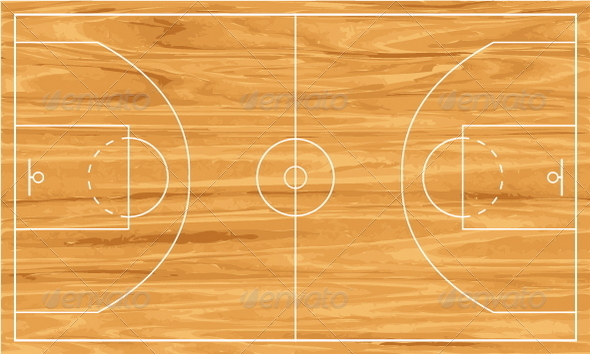Wooden basketball court. Fully editable vector files EPS8 and hi-res ...