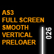 AS3 Full-Screen Glowing Smooth Vertical Preloader - ActiveDen Item for Sale