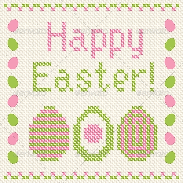 GraphicRiver Happy Easter Greeting Card 3846127