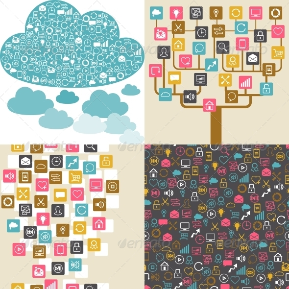 GraphicRiver Social Network Backgrounds 3846140