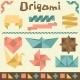 Retro Origami Set with Design Elements.