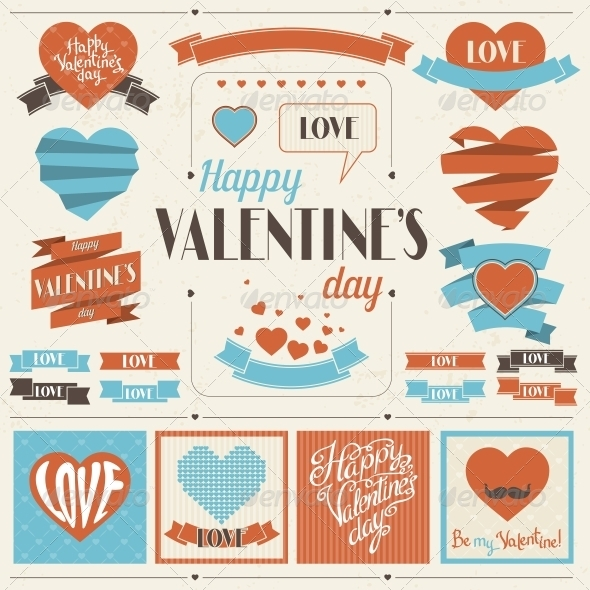 GraphicRiver Valentine s Day Ribbons Collection 3846238