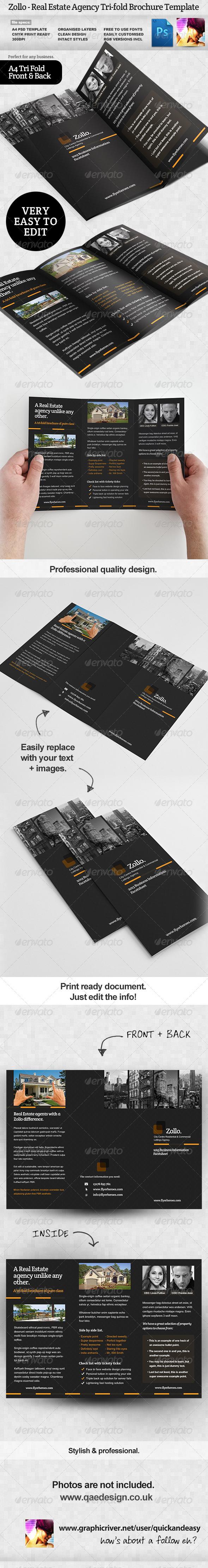 GraphicRiver Zollo Real Estate Tri Fold Brochure Template 3846651