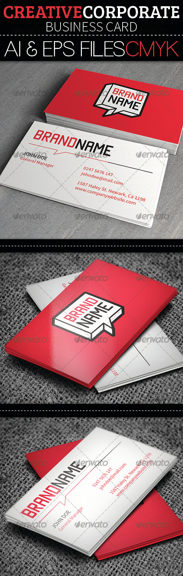 GraphicRiver Creative Cororate Business Card 3846654
