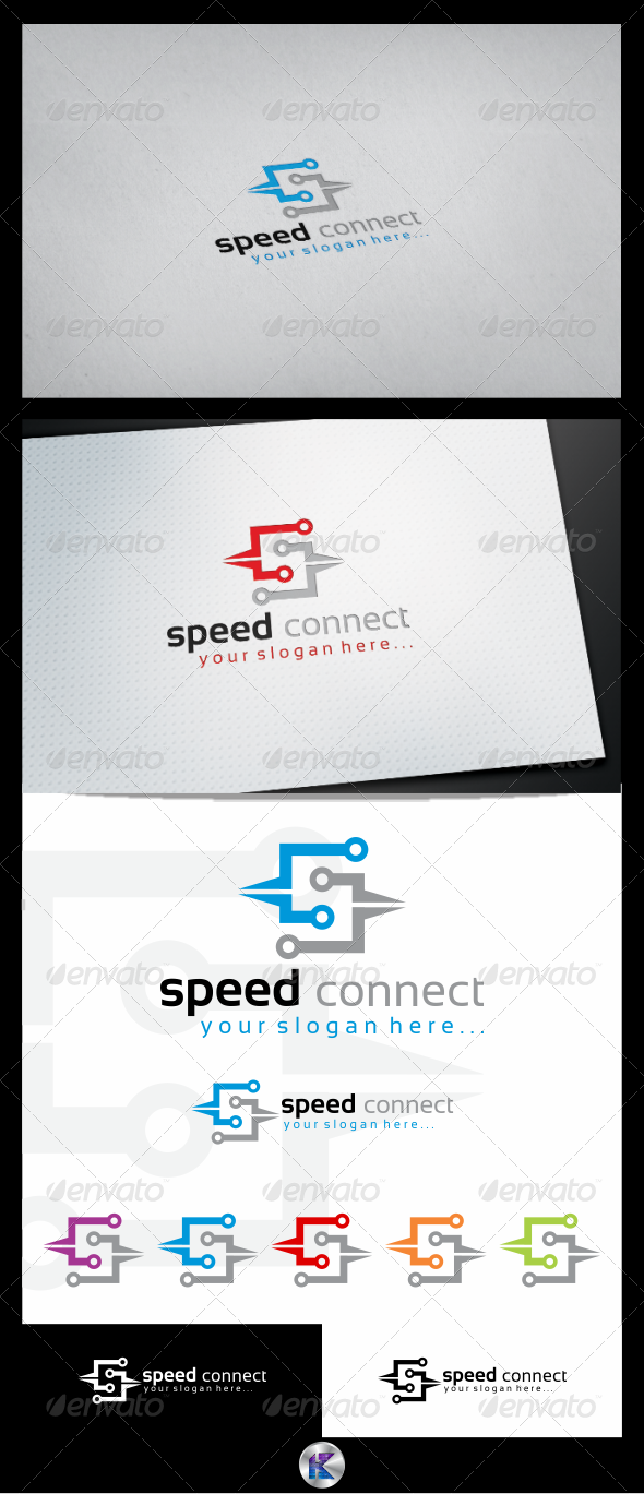 GraphicRiver Speed Connections Logo Template 3815314
