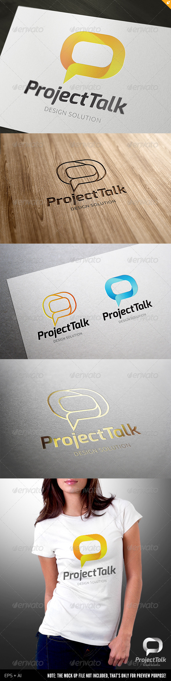Project Talk Logo - Vector Abstract