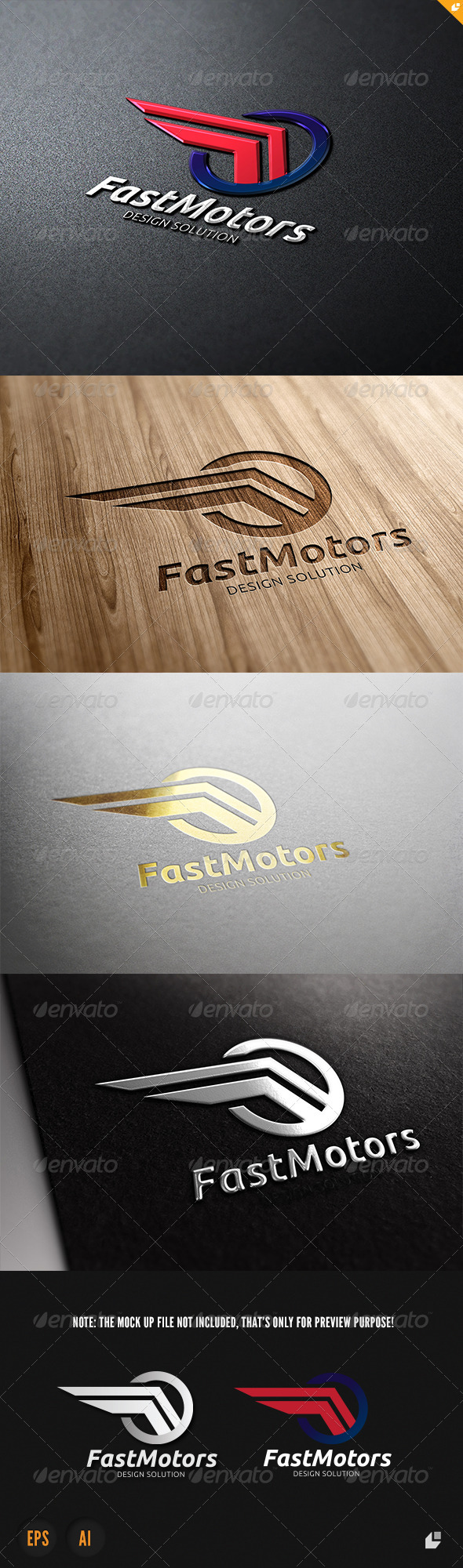 GraphicRiver Fast Motors Logo 3847411