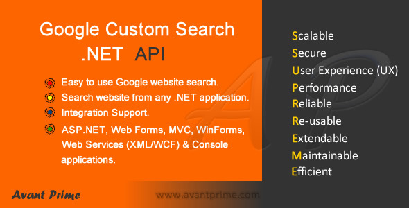 CodeCanyon Google Custom Search NET API 3847877