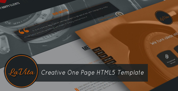 ThemeForest LaVita Creative One Page HTML5 Template 3803930