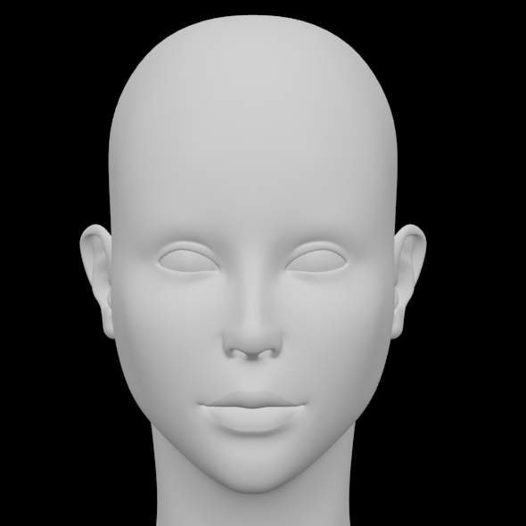 Female Head - 3DOcean Item for Sale