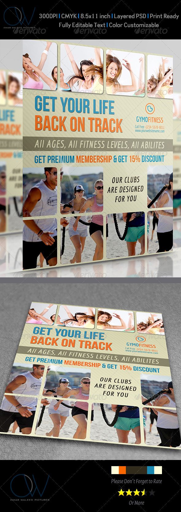 GraphicRiver Fitness GYM Flyer 3738874