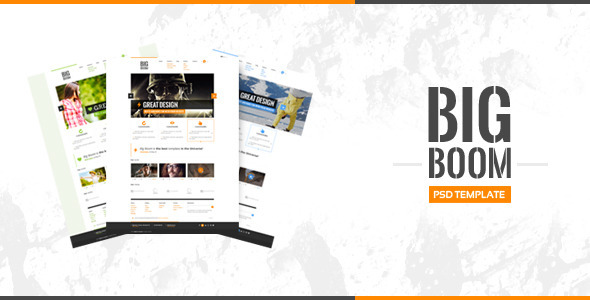 ThemeForest BigBoom Clean & Powerful PSD Template 3817726