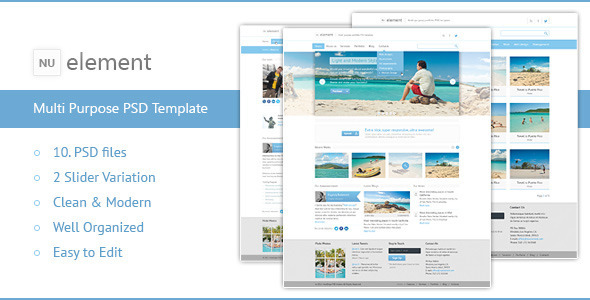 ThemeForest NuElement Business PSD Template 3849272