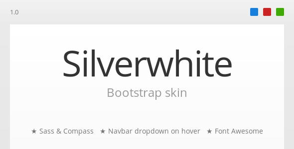 CodeCanyon Silverwhite Bootstrap Skin 3849347