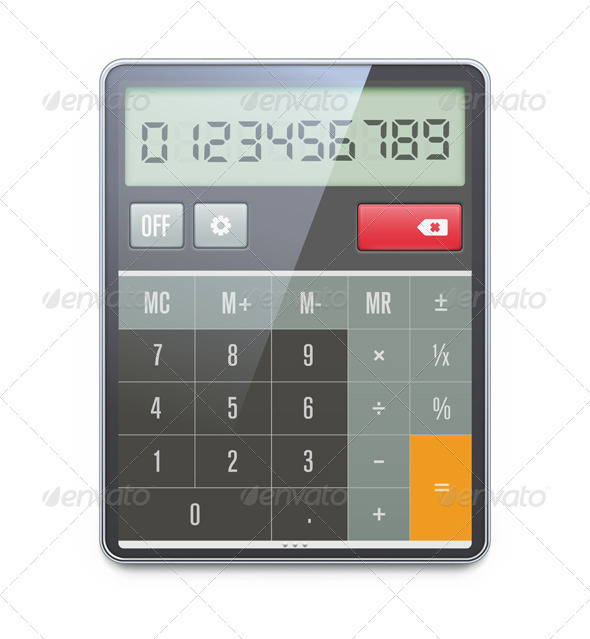 GraphicRiver Electronic Calculator 3849818