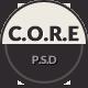 核心 - 多用途单页PSD模板 - WorldWideThemes.net出售的物品