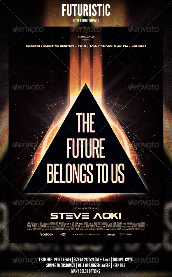 Futuristic Flyer / Poster 3 - Events Flyers
