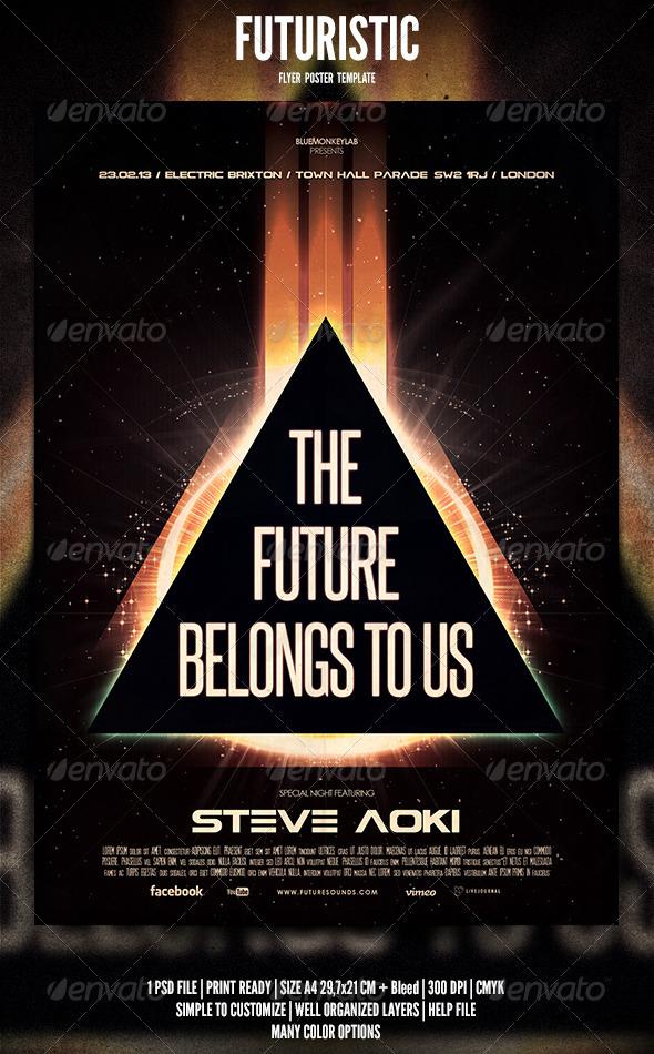 GraphicRiver Futuristic Flyer Poster 3 3850825