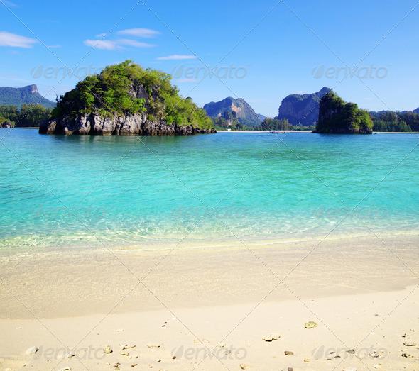 PhotoDune beach and tropical sea 3851097