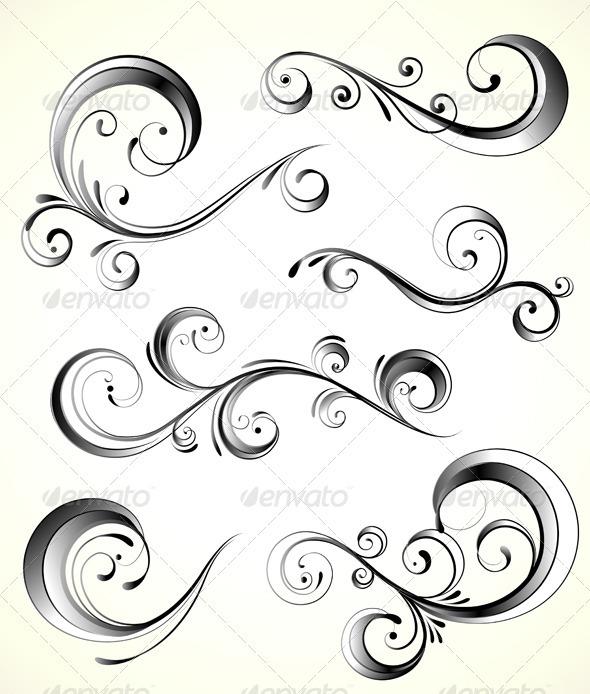 GraphicRiver Floral Decorative Elements 3851263
