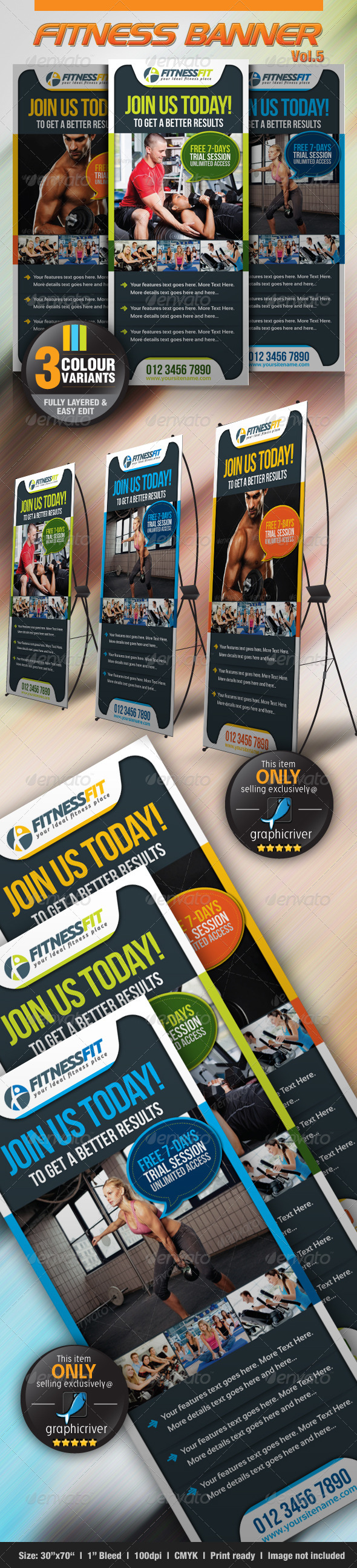 GraphicRiver Fitness Banner Vol.5 3852094